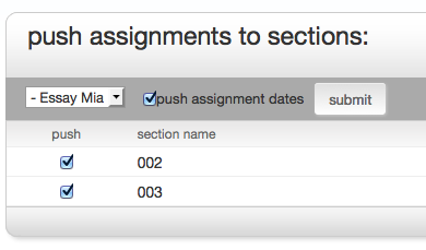 Push Assignment checkboxes